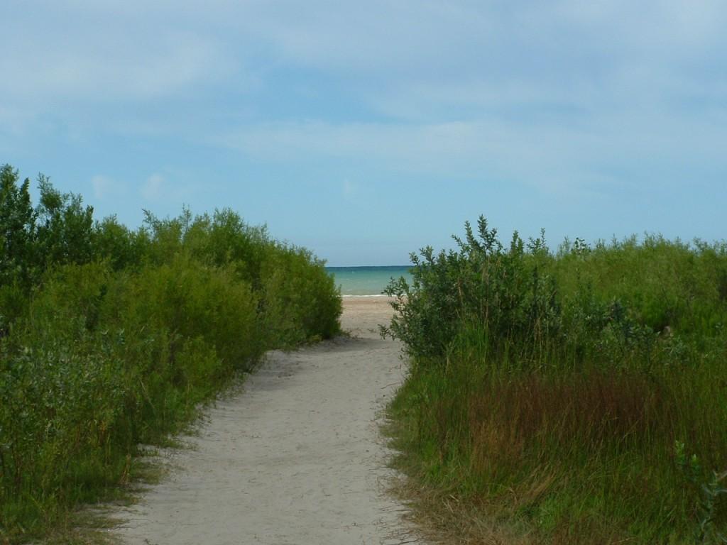 Sand path to the beach, Lake Ontario