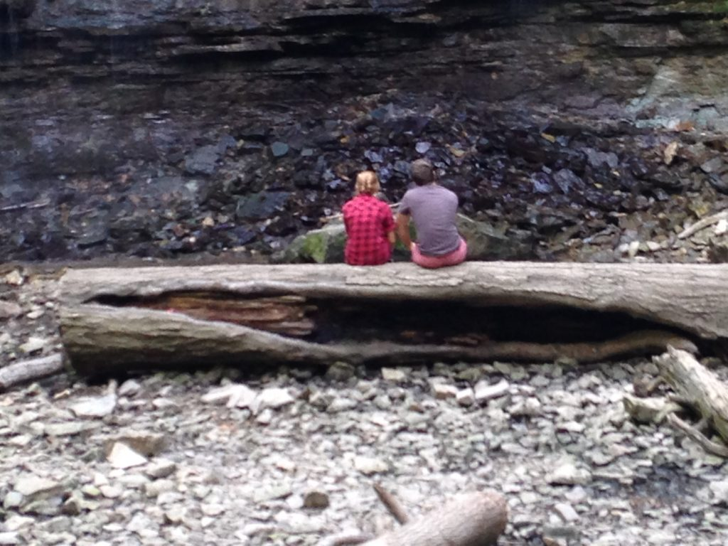 A couple at the foot of Tiffany Fall, Hamilton ON